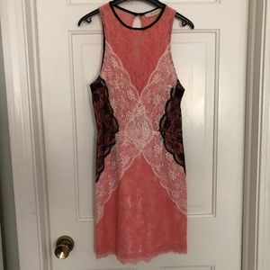 Dresses & Skirts - Boutique pink lace sleeveless cocktail dress